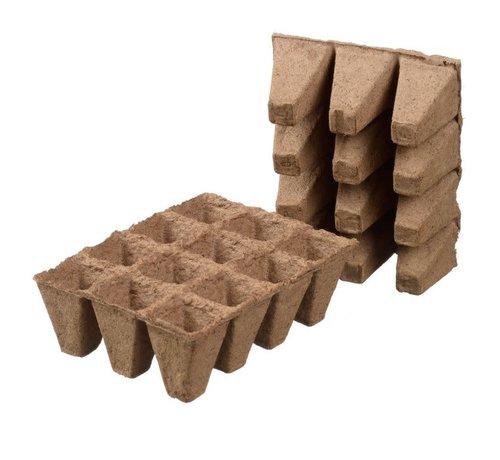 Nature Nature Biologisch Abbaubare Tray mit Torf-Töpfe Quadratisch 10 Stück