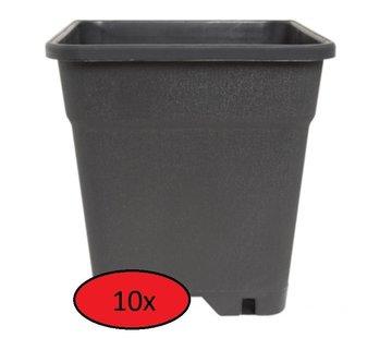 Fertraso Anzuchttopf Quadratisch 3.5 Liter 15x15 cm Schwarz - 10 Stück