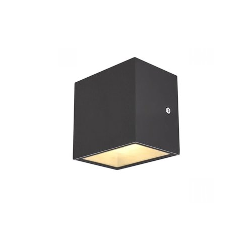 SLV Außenwandleuchte Sitra Cube - LED - anthrazit 3000k