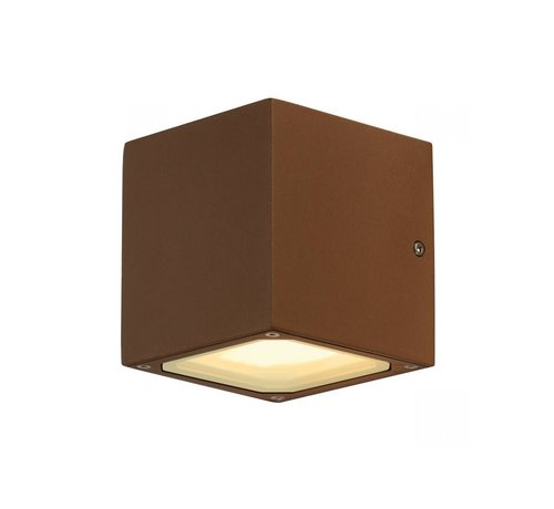 SLV Außenwandleuchte Sitra Cube - gx53 - Rost