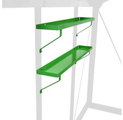 ACD Aluminium / RAL Farbe Regale Set 2 Stück 86x15 cm