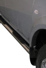 Sidebar rond - Mitsubishi L200 Dubbel Cabine & Crew Cab - 2009 tot 2015