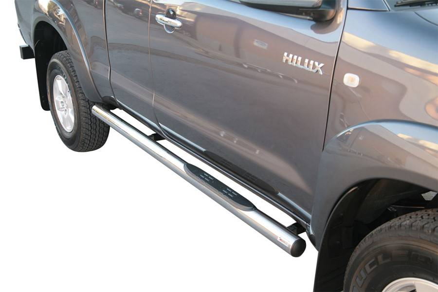 Sidebar rond - Toyota Hilux - Dubbel Cabine & Extended Cab - 2006+