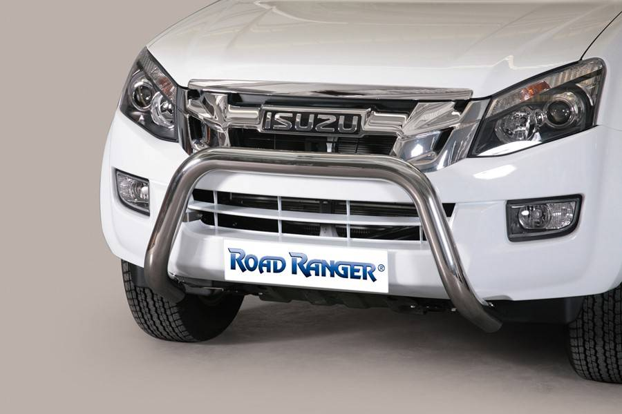 Pushbar RVS 76mm - Isuzu D-max - Dubbel Cabine - Space Cab -  2012 & 2017