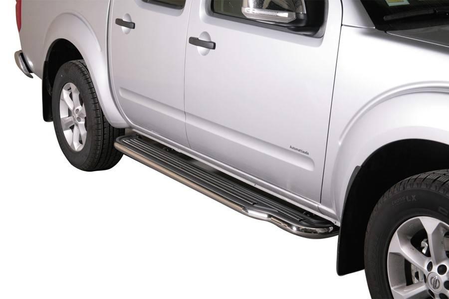 Sidebar plat - Nissan D40 Dubbel Cabine - 2005 tot 2015