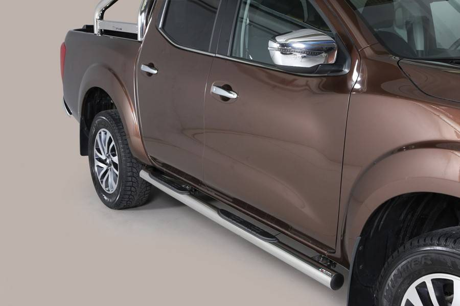 Sidebar rond - Renault Alaskan - Dubbel Cabine