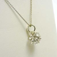 18 karaat wit gouden collier met hanger