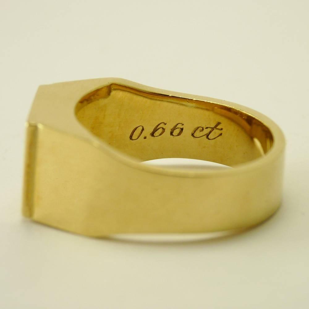569b8bba739 14 karaat geel gouden heren/damesring met briljanten - Inkoop ...