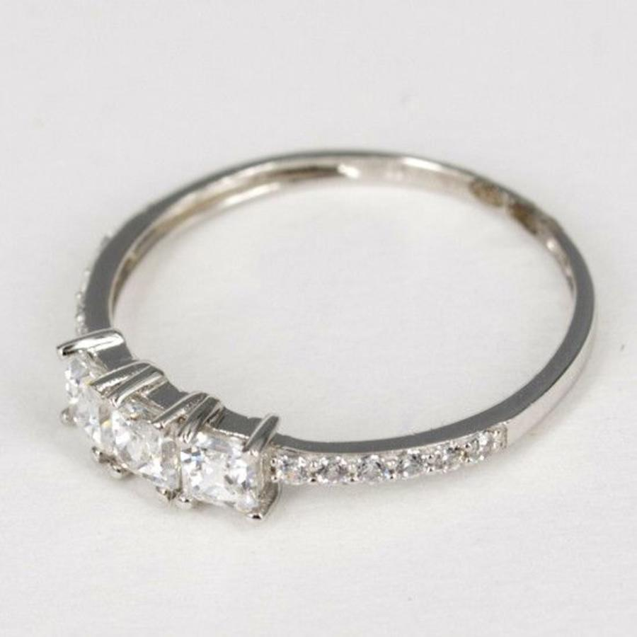14 karaat wit gouden ring zirkonia