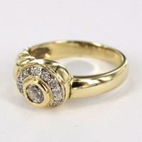 Occasion 14 karaat geel gouden ring met briljanten