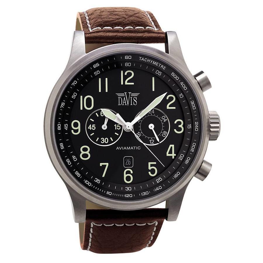 Aviamatic Watch Brn/Blk