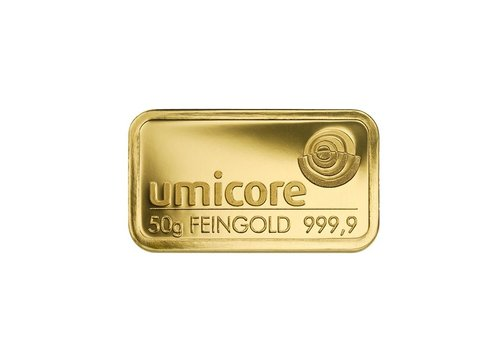 Goudbaar 50 gram Umicore