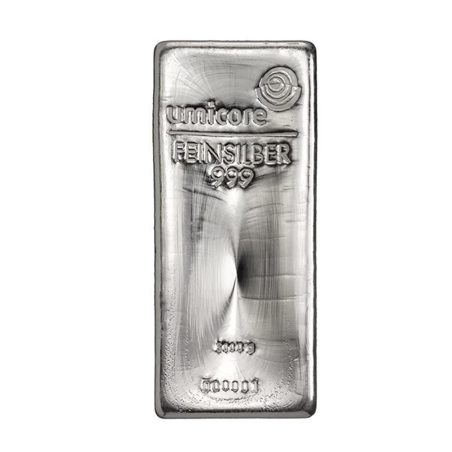 Zilverbaar Umicore 5000 gram (5 kilo)