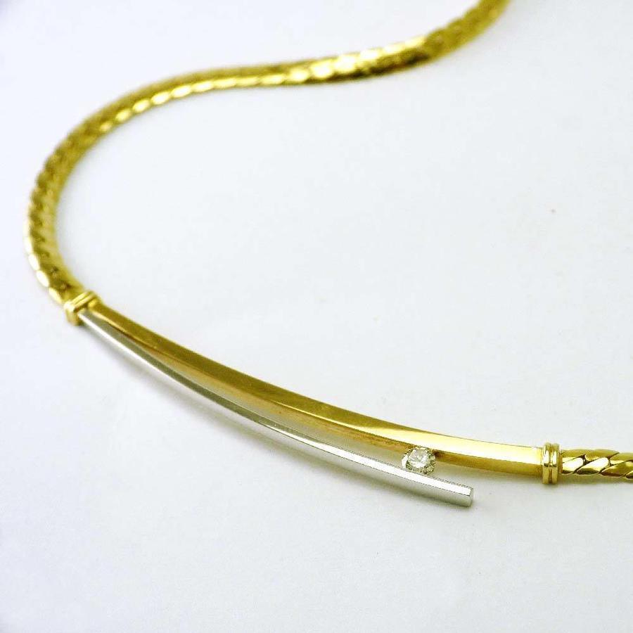 14 karaat bicolor gouden collier