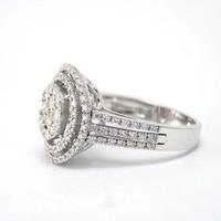 18k wit gouden ring met Briljanten