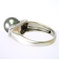 18 krt. wit gouden ring met cultivé oesterparel