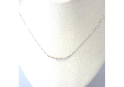 14 krt wit gouden collier