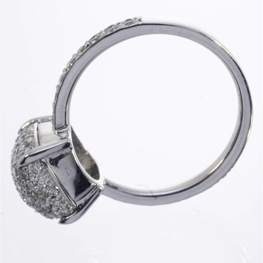 18 krt witgouden ring gezet met 72 Briljanten 0.95ct totaal