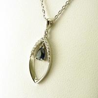 18 karaat wit gouden collier en hanger met diamanten