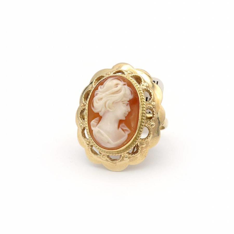 14krt. gouden ring Camee