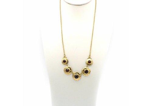 Cccasion 14 krt gouden collier met Granaat