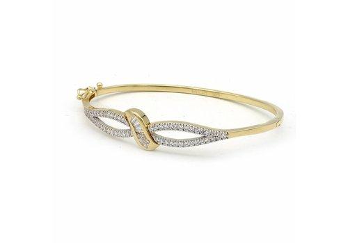 14krt gouden armband met zirkonia