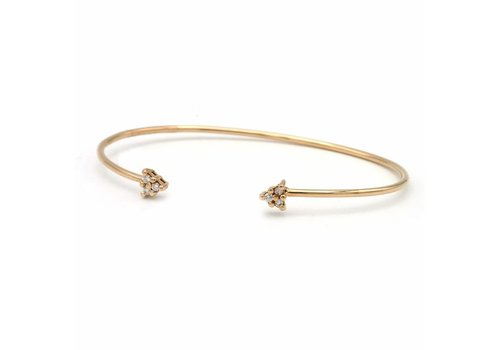 occasion 18krt. rosé gouden armband  met Briljant