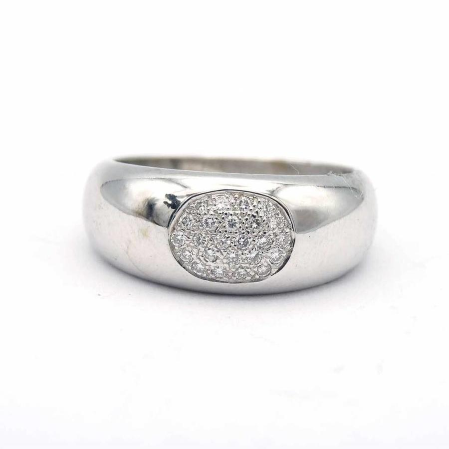 Occasion 14krt gouden ring van met briljanten
