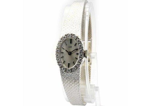 Occasion 14krt. gouden horloge met briljant