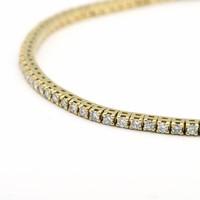 18 krt. geel gouden armband met briljant