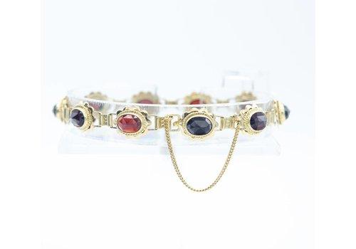 Occasion 14k gouden armband met Granaat