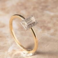 18k bicolor ring met Diamant en Briljant
