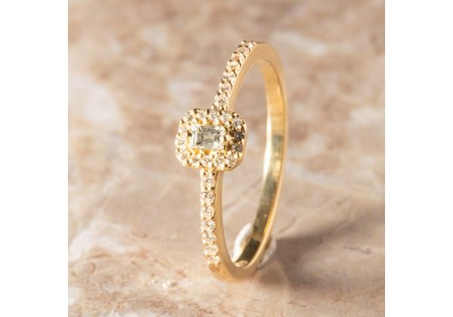 18k ring met Diamant en Briljant