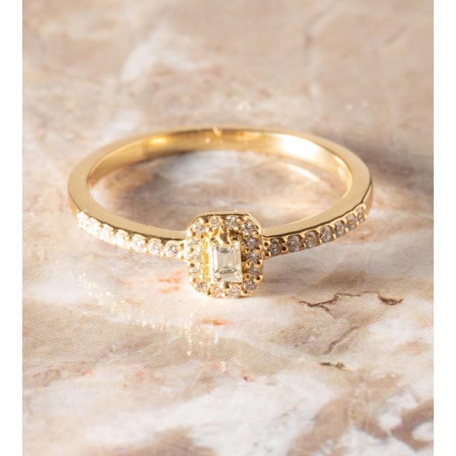 18k ring met Diamant en Briljant