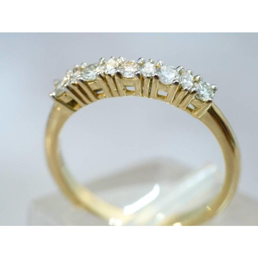 18k gouden ring met Diamant en Briljant