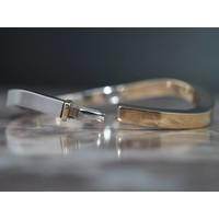 14k bicolor gouden slavenband