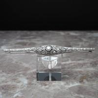 Occasion Art Deco Platina en witgouden broche