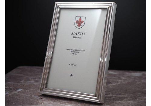 Zilveren fotolijst Maxim