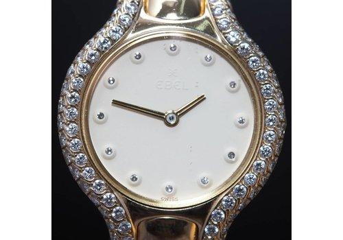 Occasion Ebel Beluga 18k dames horloge met Briljanten