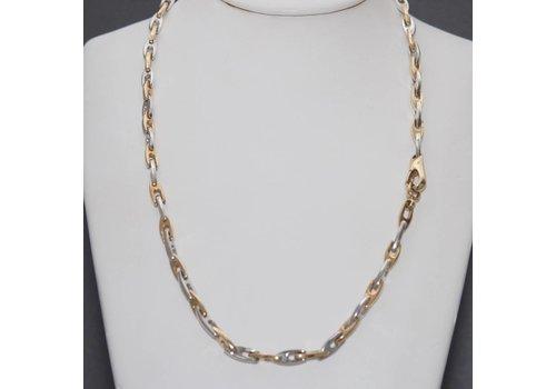 Occasion  14k bicolor gouden collier