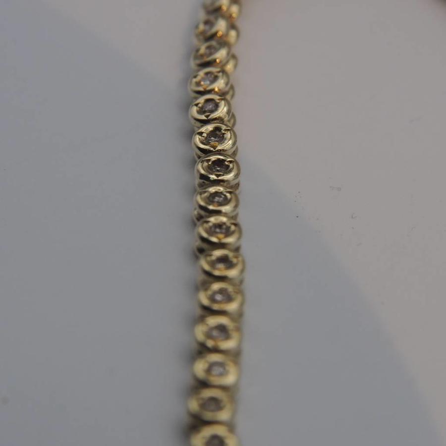 14k gouden armband met Briljanten