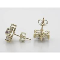 14k geel gouden oorstekers met zirkonia