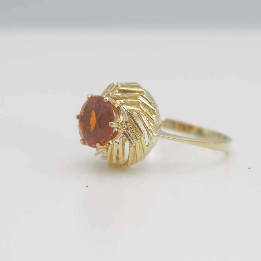 14k geel gouden ring met Topaas