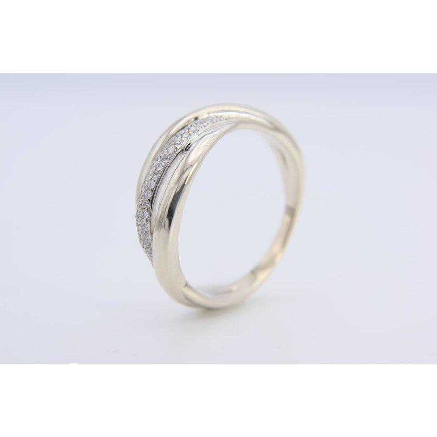 14k wit gouden ring met 40 Briljanten