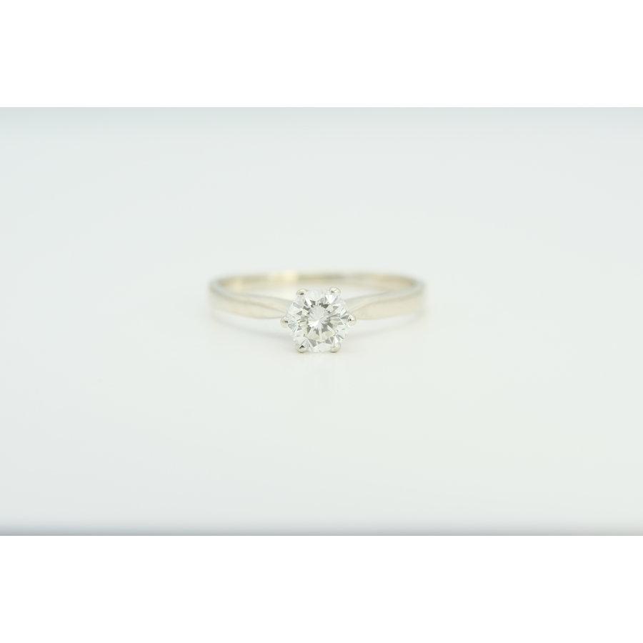 14k wit gouden solitair ring