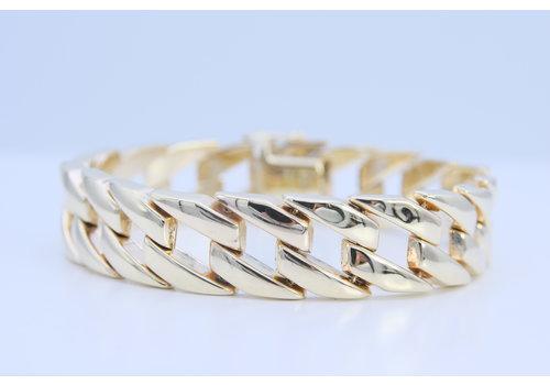 14k  schakel armband