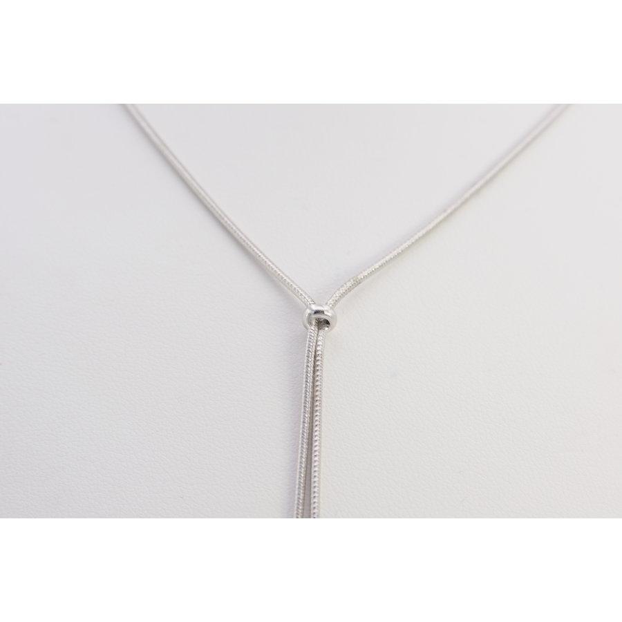 18k wit gouden collier met parels