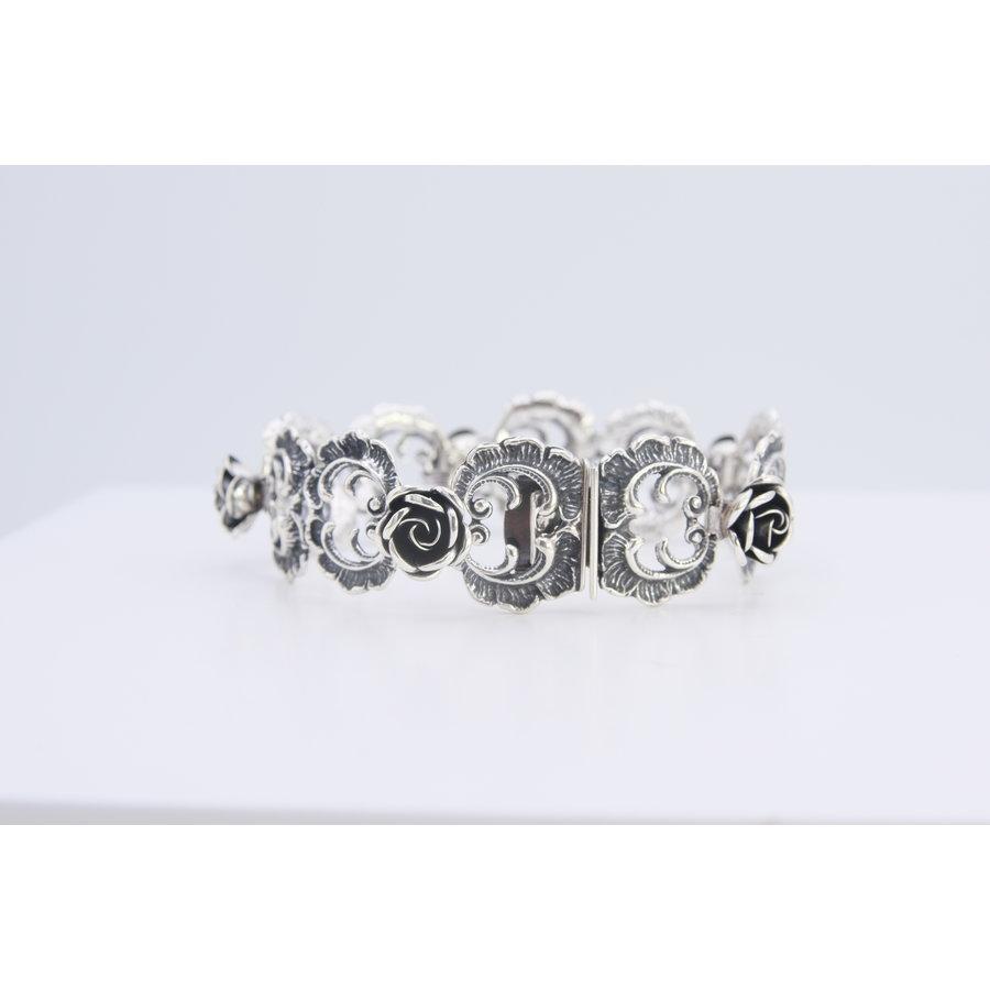 Zilveren armband met rozen