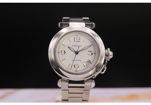 Cartier Pasha C 2324 auto staal AER.