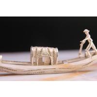 Miniatuur zilveren gondel